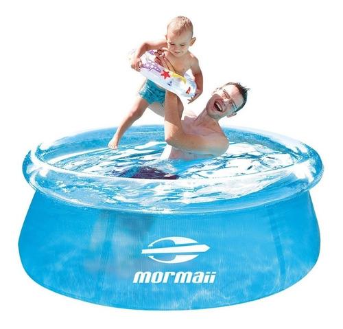 piscina redonda inflável 1400 l mormaii + bomba p/ inflar