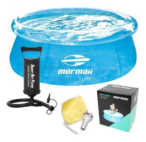 piscina redonda inflável 1400 litros mormaii 140096