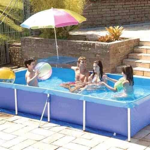 Piscina retangular 3000 litros infantil mor r 399 80 em for Piscina 3000 litros