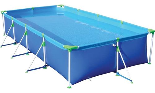 piscina retangular 6200 l lona pvc resistente premium mor