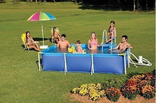 piscina retangular mor, 3700 litros, premium - 1023
