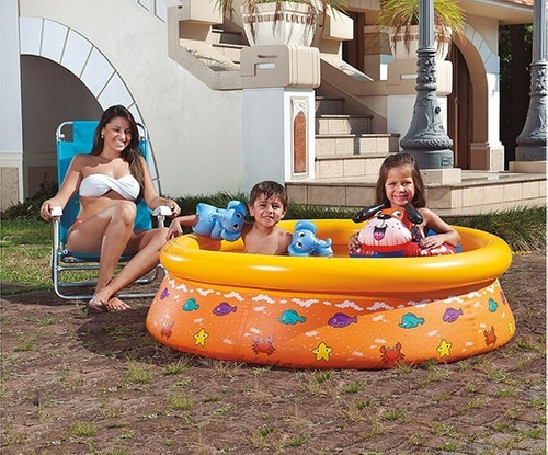 piscina splash fun estampada 1,45cm x 38cm 520l laranja