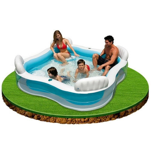 piscina tipo jacuzzi intex inflable 4 sillas 56475