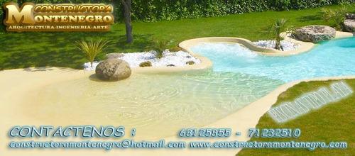 piscina tipo playa o arena