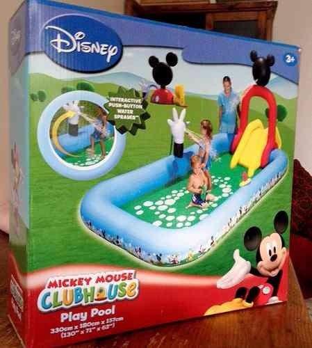 piscina tobogan disney mickey mouse club house verano 2019