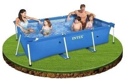 piscina tubular rectangular intex 220x150x60cm