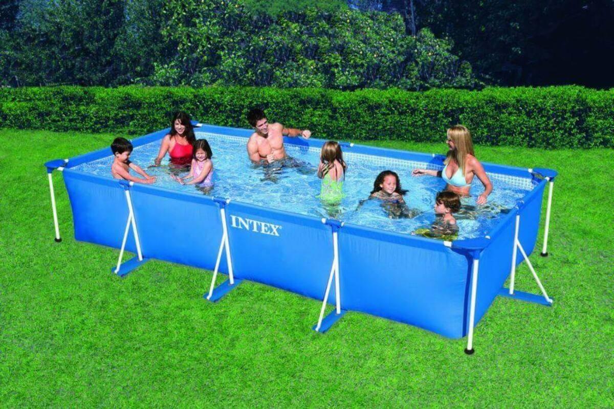 piscinas armables retangular de 450x220x084 verano 2017