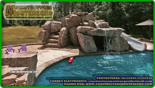 piscinas con divertidos juegos acuaticos