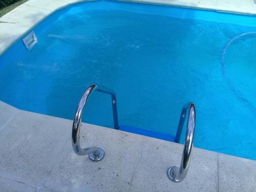piscinas de fibra 7x3.5x1.4  instalada mantenimiento