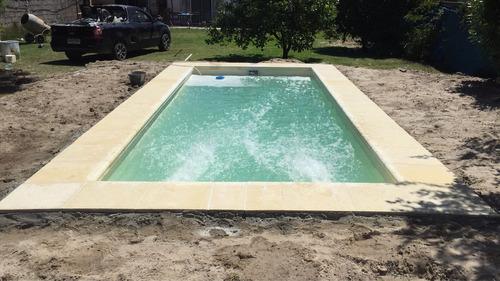 piscinas de fibra instaladas