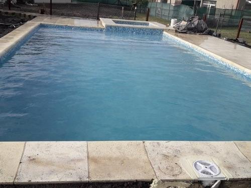 piscinas de hormigón.