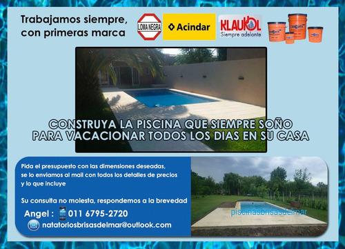 piscinas de hormigón llave en mano 8x4 $235.000gtia 10 años