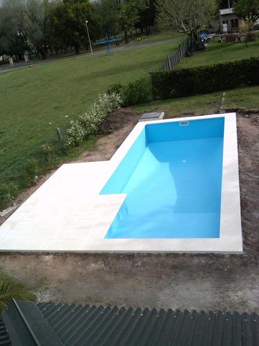 piscinas de hormigón - piscinas huljer  mt2 $ 6.000