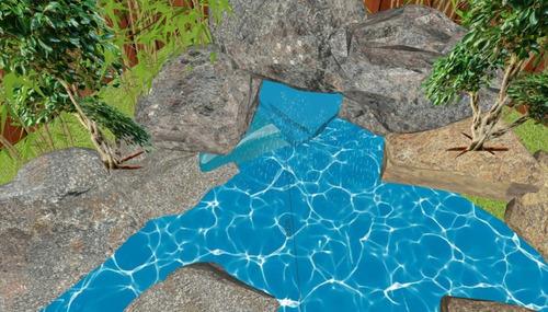 piscinas estanques pequeñas con cascada