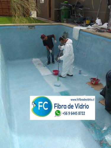 piscinas fibra de vidrio, reparacion e impermeabilización