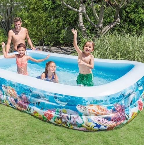 piscinas inflables rectangular intex infantiles 305x183x56cm