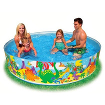 Piscina Intex Familiar Armable 244x46cm Niños Niñas 58472np