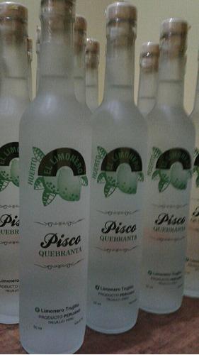 piscos personalizados en botellas pavonadas