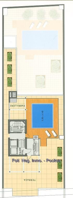 piso 5: terraza de 260 m² c/piscina uso exclusivo