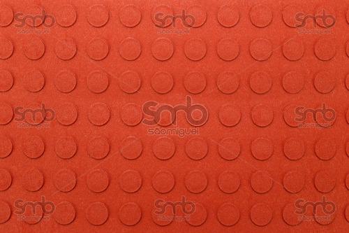 piso academia moeda botão metro pastilha vermelho pastilhado