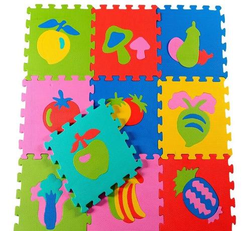 piso alfombra infantil goma encastrable 10 pcs tecnofast