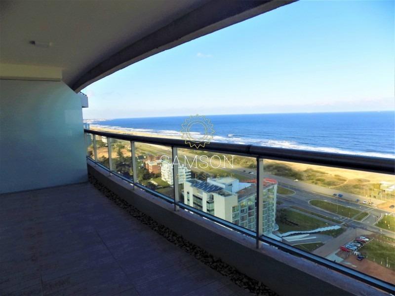 piso alto con vista al mar, en venta en torre look brava, punta del este- ref: 96