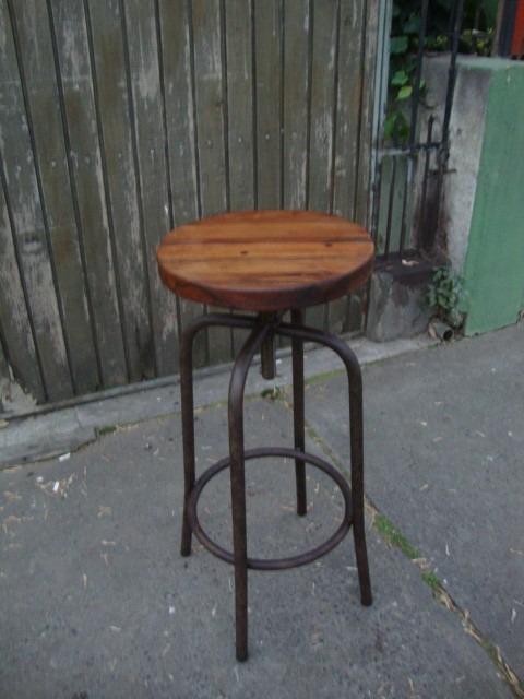 Piso bar fierro y madera en mercado libre for Bar de madera chile