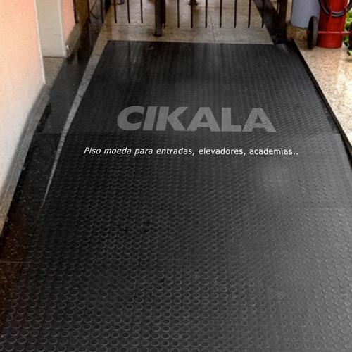 piso borracha moeda preto são paulo pronta entrega 50x50 cm