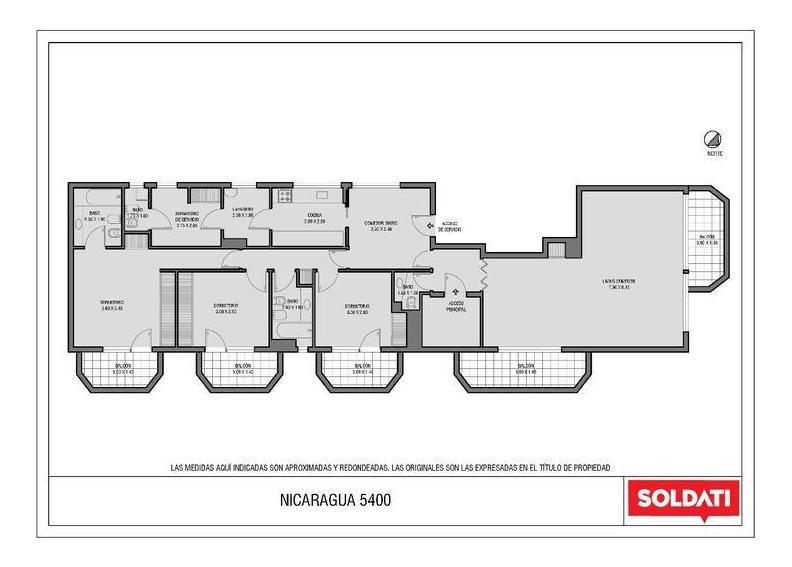 piso de 4 ambientes -cochera - belgrano r