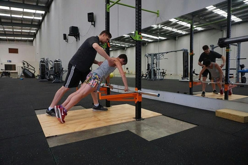 piso de caucho crossfit 1x1 1cm g fitness