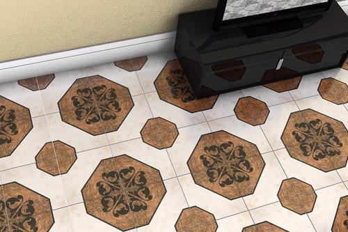 Piso de cer mica alexandria 43x43 cer micas castro for Ceramicas castro