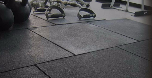 piso de goma crossfit caucho 1*1 mtros - 20 mm - 100% virgen