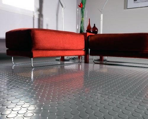 piso de goma de botones vinilo ancho dos metros