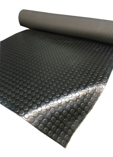 piso de goma moneda negro ancho 1 metro 2.5 mm espesorno pvc
