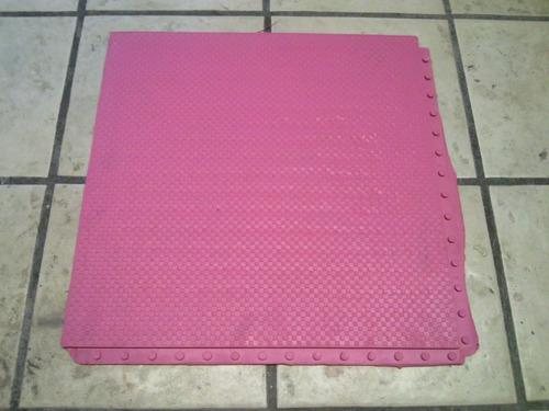 piso de hule ensamble oculto 10 mm de colores
