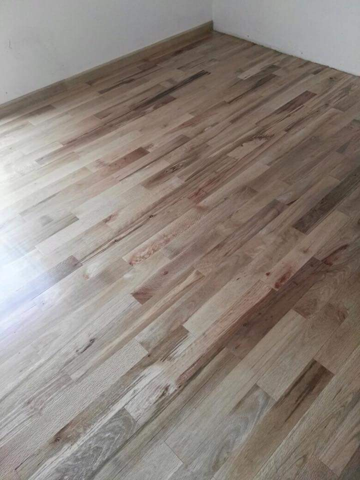 Piso de madera encino nacional rustico oferta barato for The home depot pisos