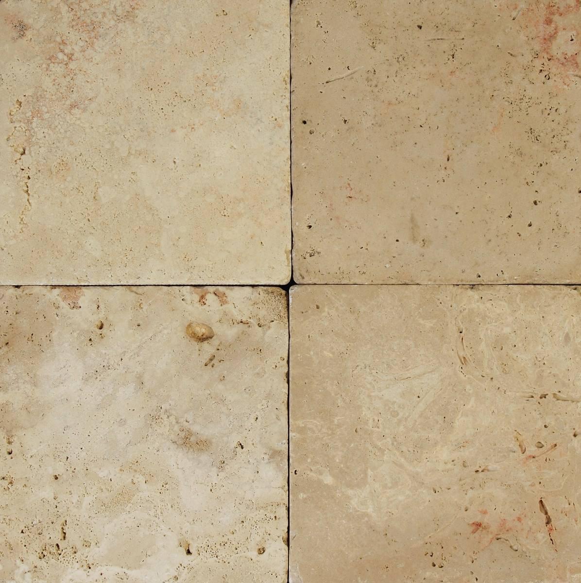 Piso de marmol travertino tomboleado calidad primera for Pisos de travertino rustico
