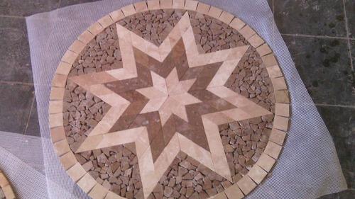 piso de marmol y medallones $ 1,600,00 c/u  100 % marmol