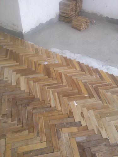 piso de parquet teca y machihembrado teca