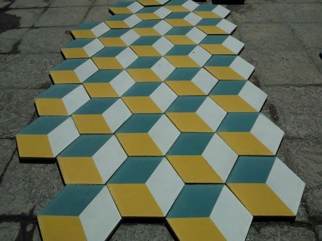 Piso de pasta mosaico hidraulico terrazo y cantocreto for Mosaicos para pisos precios