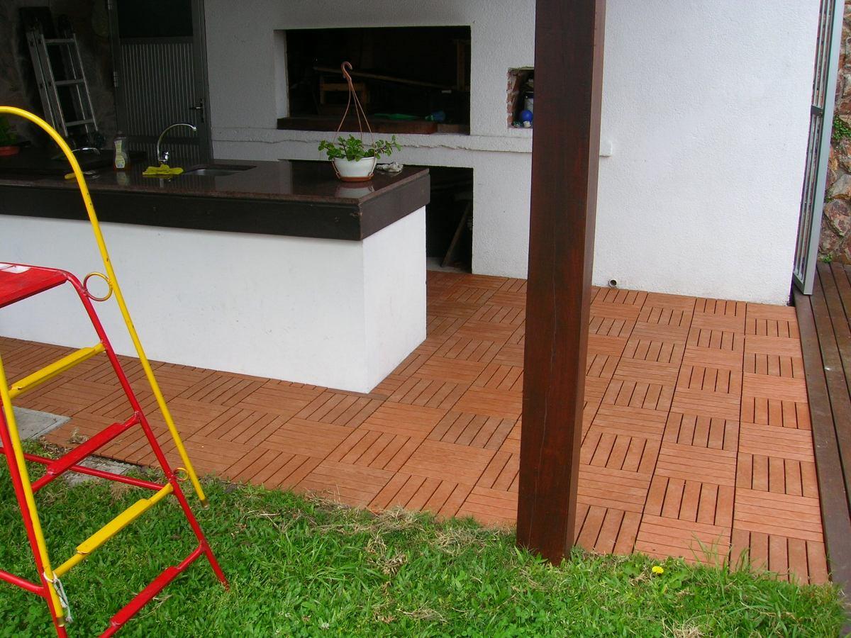 Piso deck de madera en mercado libre for Pisos deck de madera