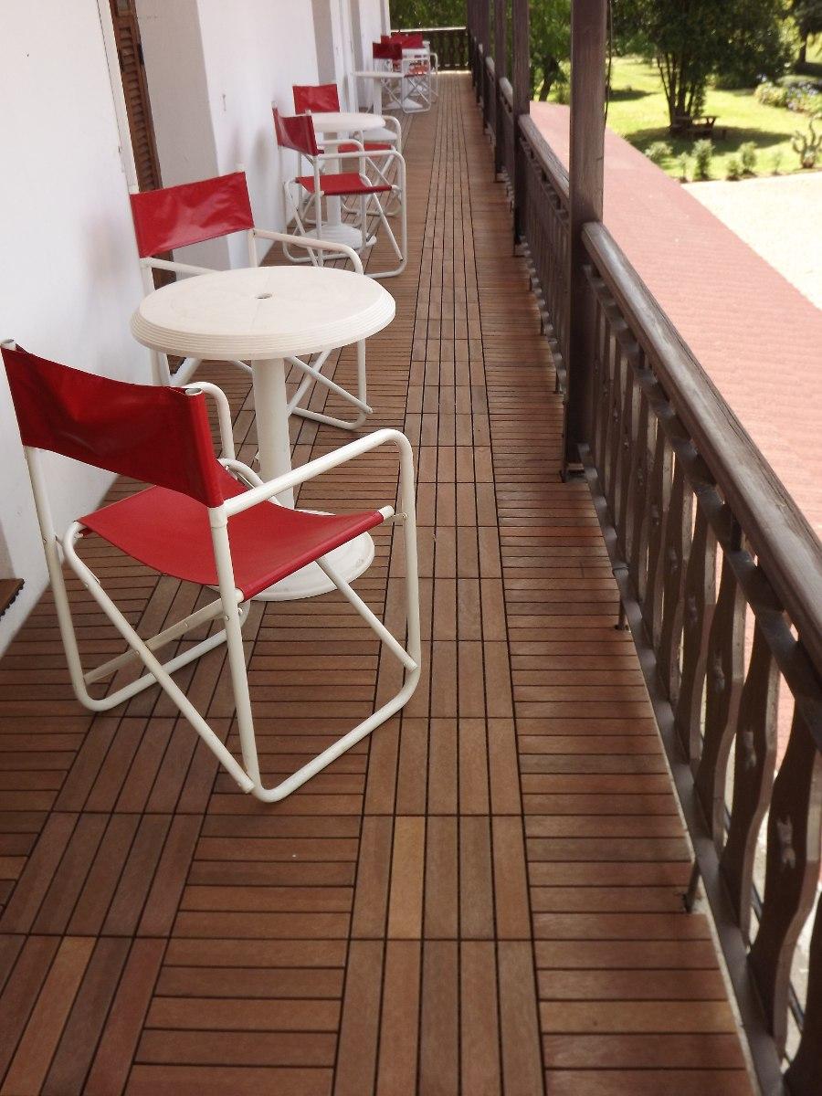 Piso deck de madera para exteriores en mercado libre for Deck para exteriores