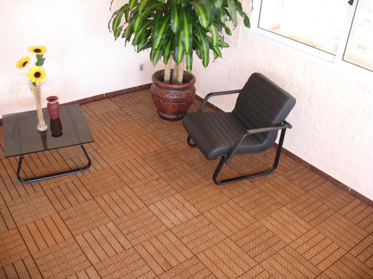 Piso deck de madera para exteriores en mercado libre for Ideas de pisos para terrazas