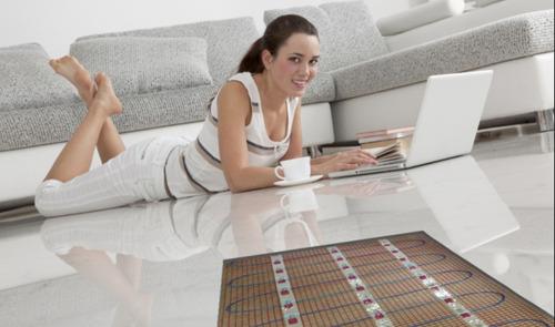 piso eléctrico radiante, piso térmico, de bajo consumo.