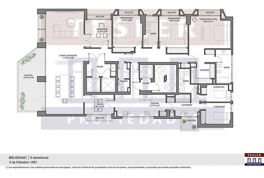piso en complejo aisenson - 3 de febrero 1500 - totalmente reciclado a nuevo - belgrano