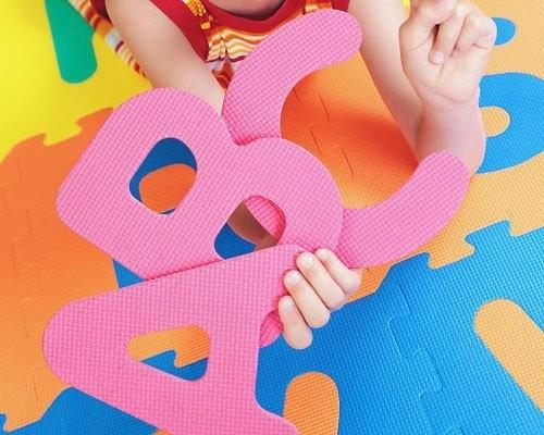 piso en foami 36 fichas letras (a-z) + numeros (0-9)