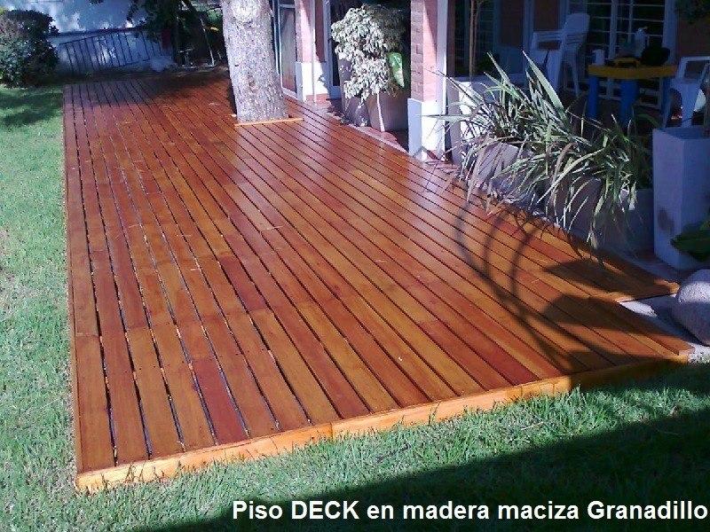 Piso en madera para exteriores deck teka todo colombia for Pisos antideslizantes para exteriores
