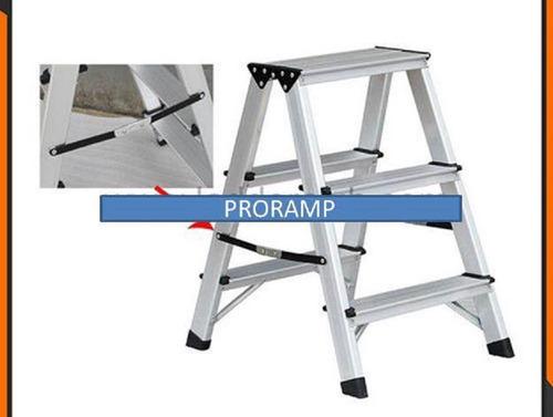 piso escala de aluminio 3 peldaños 150 kg proramp