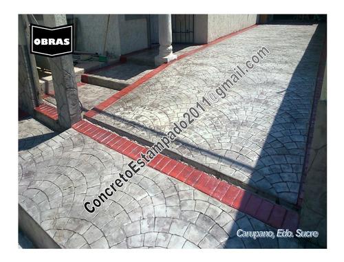 piso estampado concreto