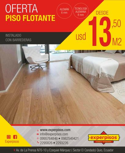 piso flotante+barredera+instalación $13.50 ac3